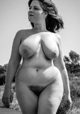 Hairy vintage and large tits