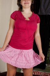 Speckferkel Celia im rosa Roeckchen